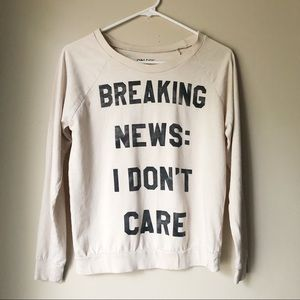 On Fire 🔥- Breaking News:  I Don't Care Cream Tee